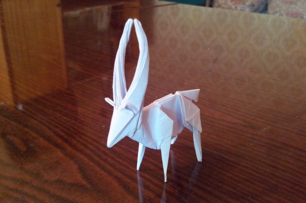 Антилопа оригами