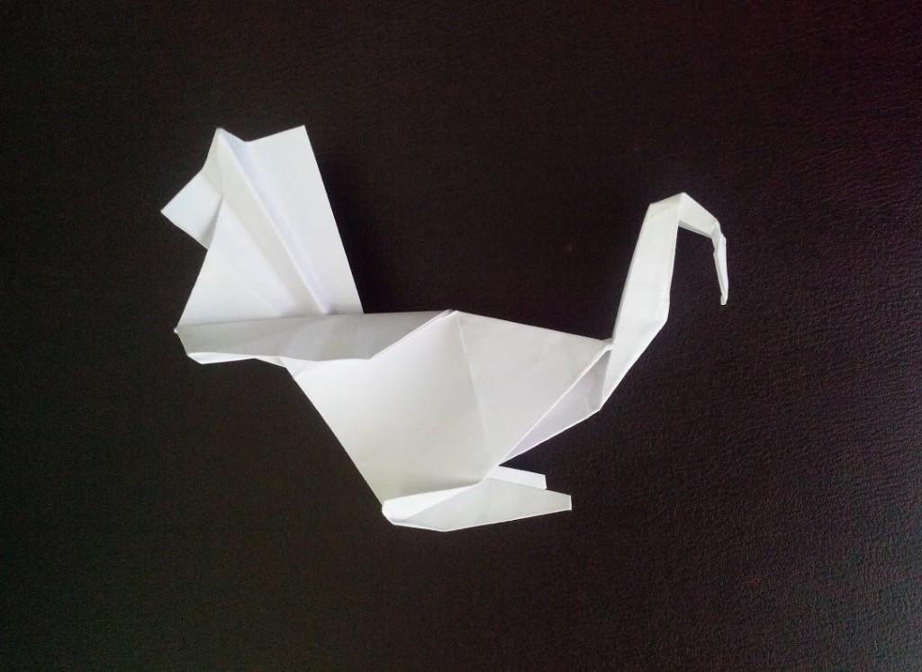 Индюк оригами
