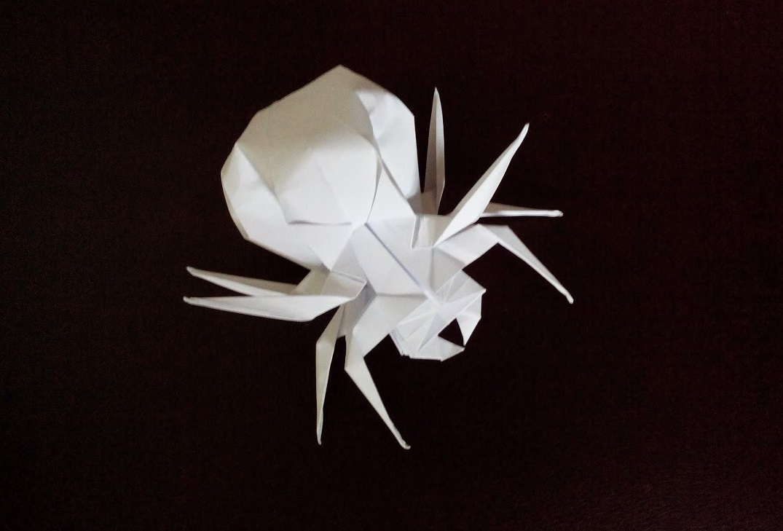 Интересный паук оригами