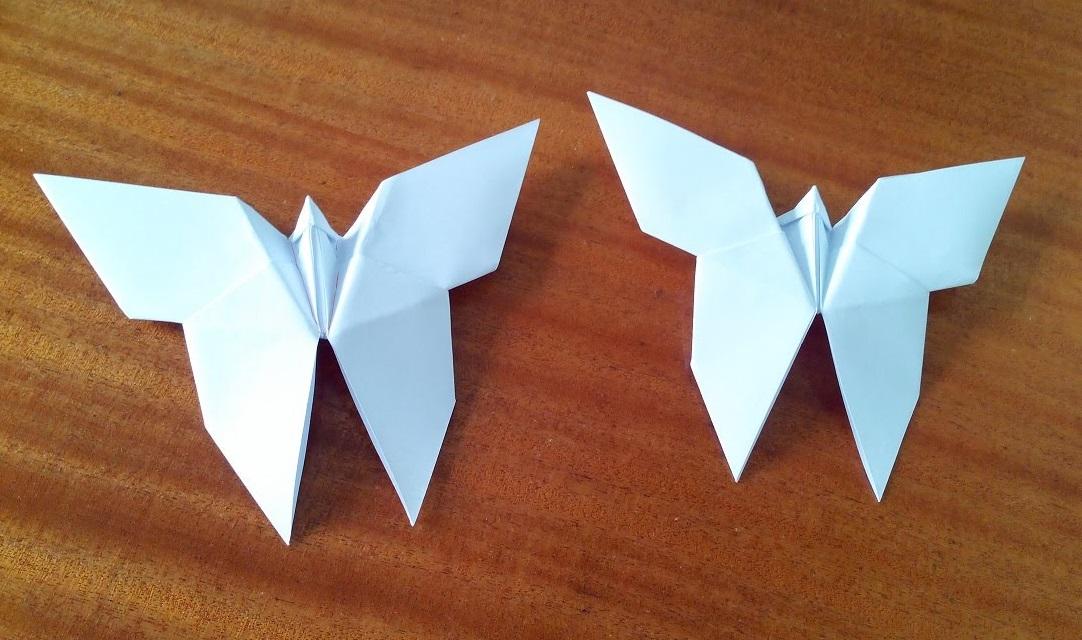 Как сделать бабочку оригами