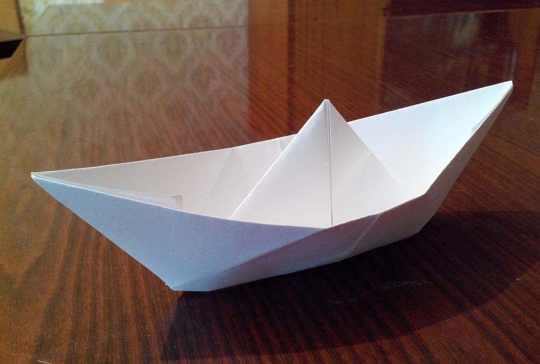 Как сделать кораблик оригами