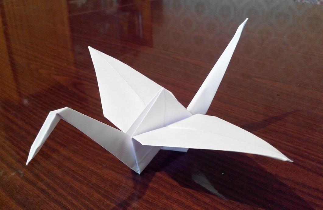Как сделать оригами журавля