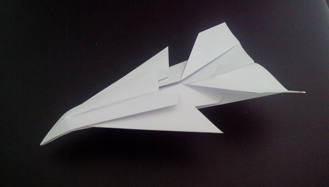 Как сделать самолет истребитель оригами