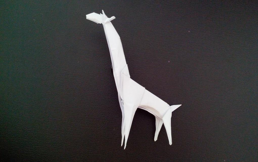 Как сделать жирафа оригами