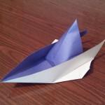 Катер оригами