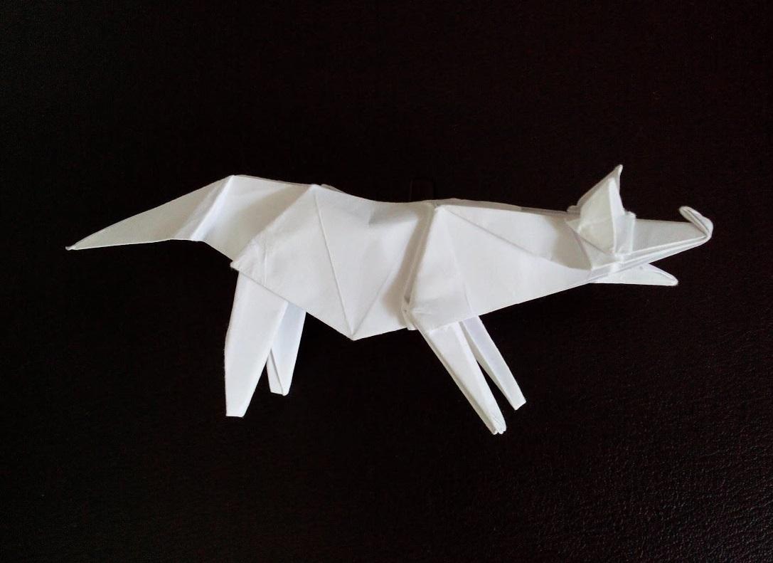 Хитрая лиса из бумаги Животные