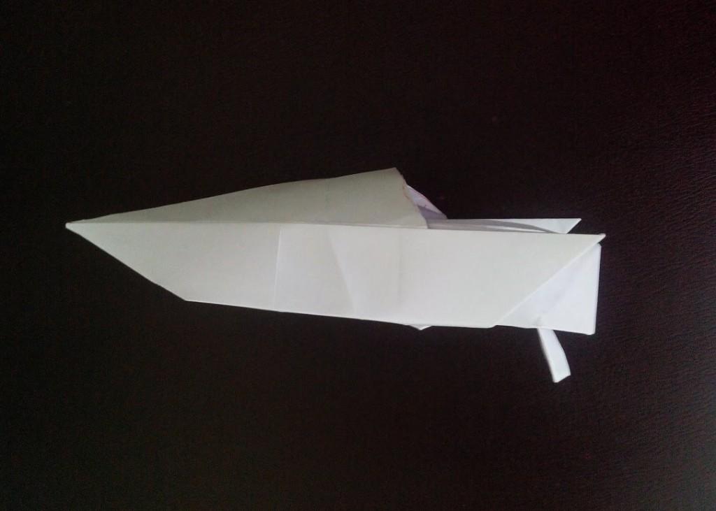 Моторная лодка оригами