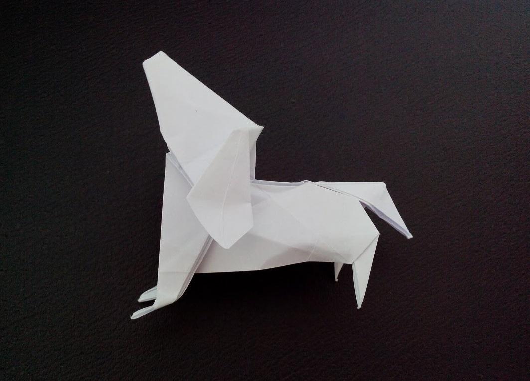 Оригами Такса или Бассет хаунд (Fuchimoto Muneji)