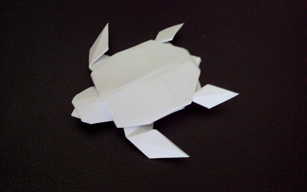 Оригами морская черепаха