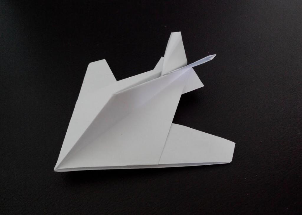 Оригами самолет Стелс (Robert J. Lang)