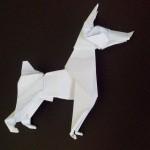 Оригами собака Доберман Пинчер (Ares Alanya)