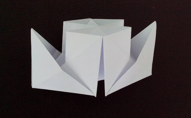 Пароход оригами