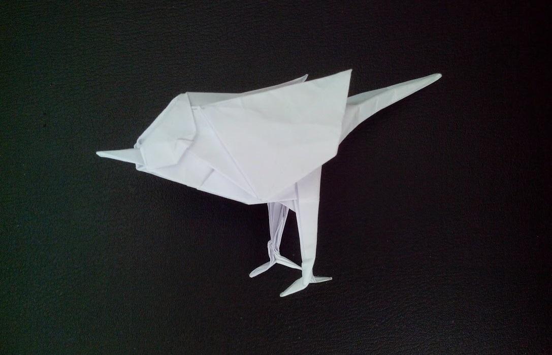 Птица воробей оригами