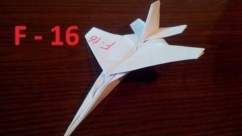 Самолет оригами истребитель F - 16 (Tadashi Mori)