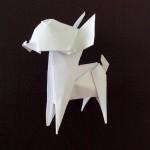 Собака Чихуахуа или Той терьер оригами (Fuchimoto Muneji)