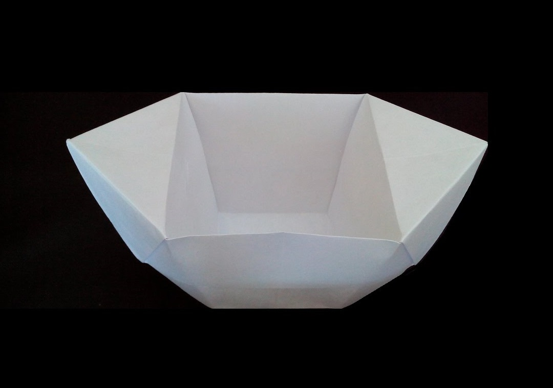 Глубокая миска оригами