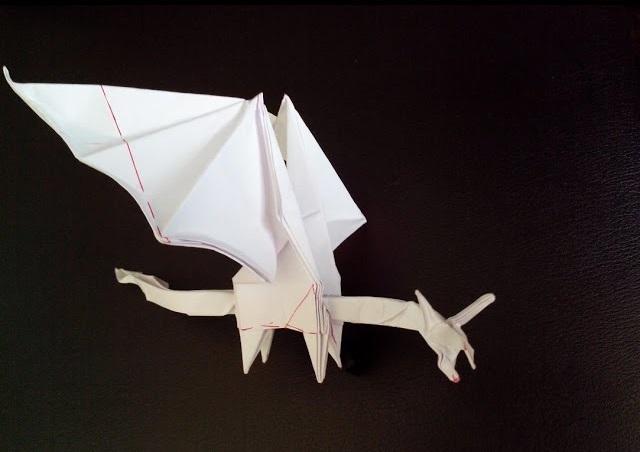 Интересный маленький дракон оригами (Shuki Kato)