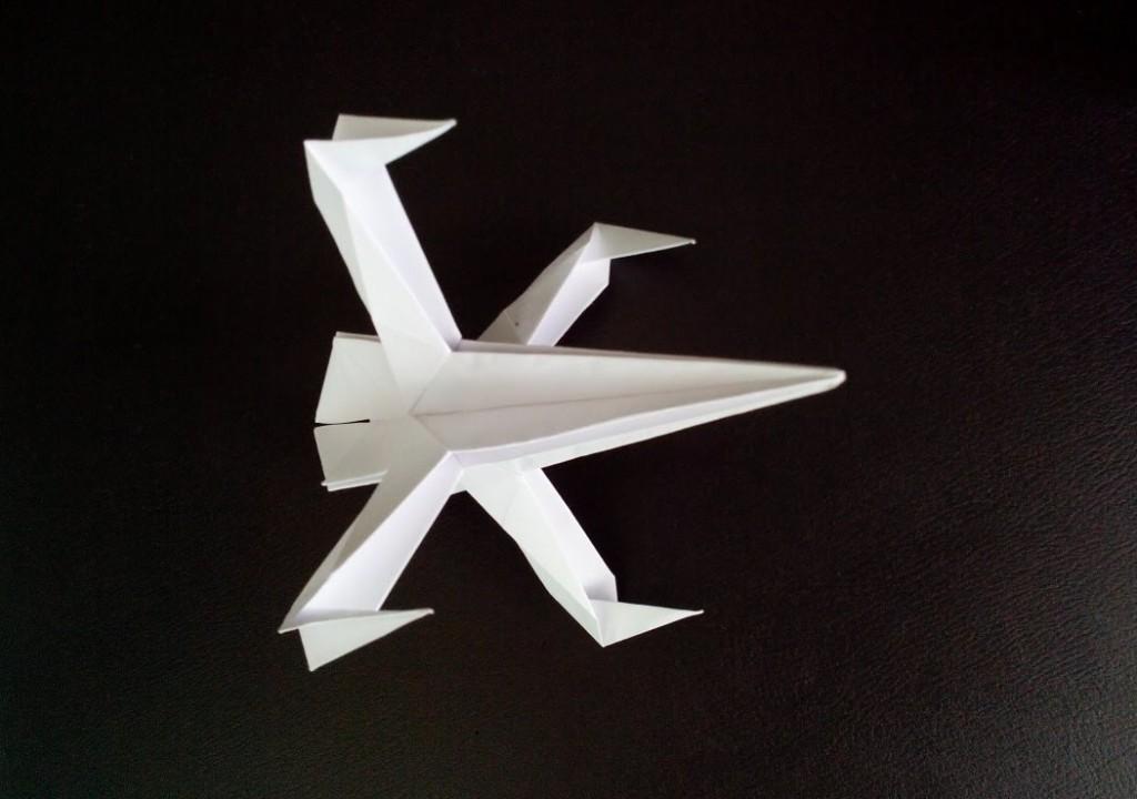 Истребитель Старфайтер - звездные войны оригами.