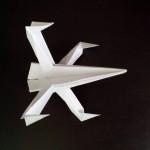 Истребитель Старфайтер — звездные войны оригами.