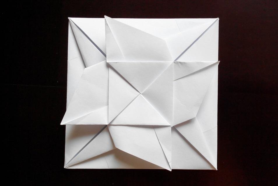 Конверт с цветком оригами
