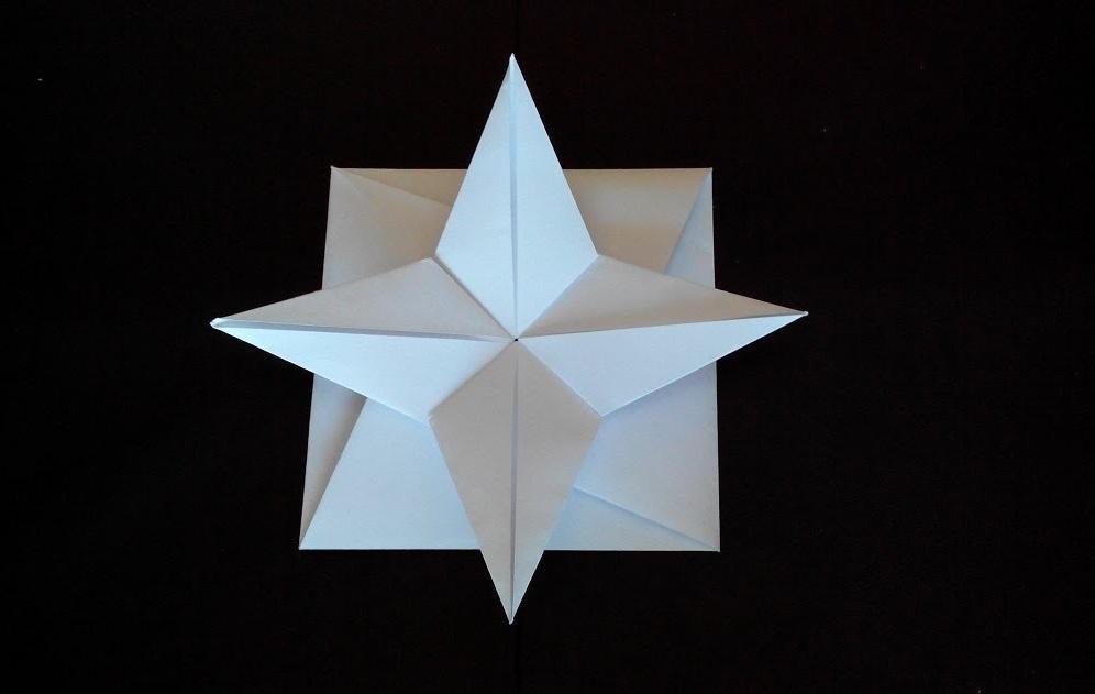 Конверт звезда оригами