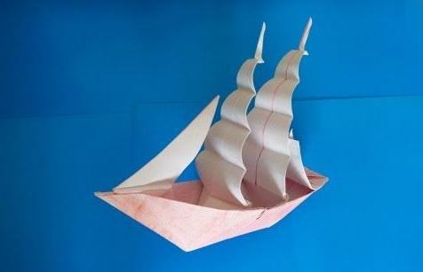 Корабль Фрегат оригами (Patricia Crawford)
