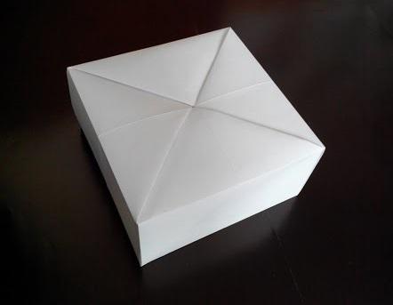 Коробочка для подарка оригами