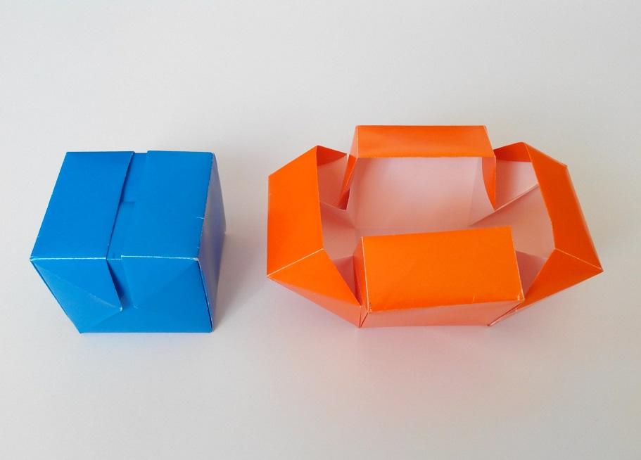 Коробочка куб оригами