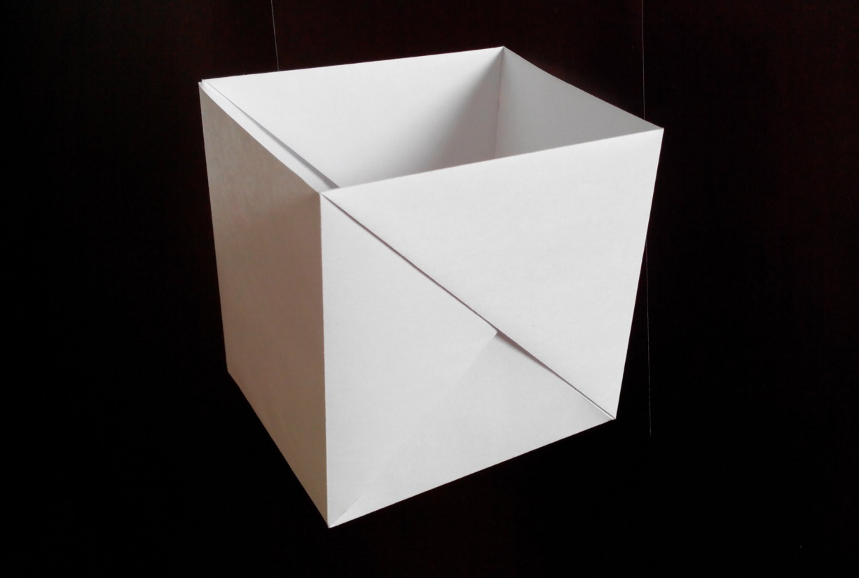 Коробочка квадратная оригами