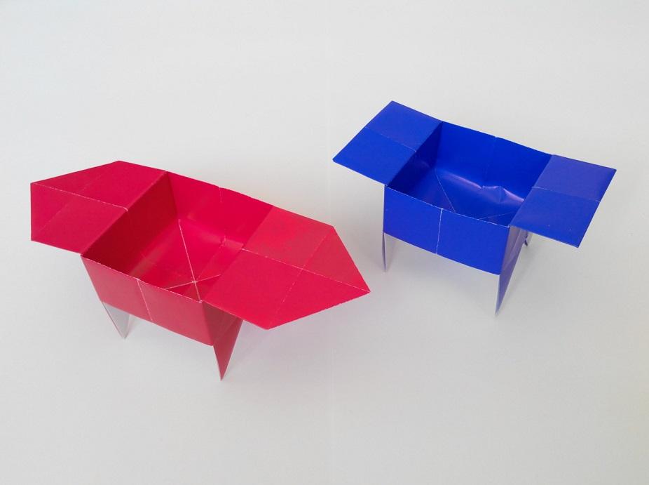 Коробочка на ножках оригами
