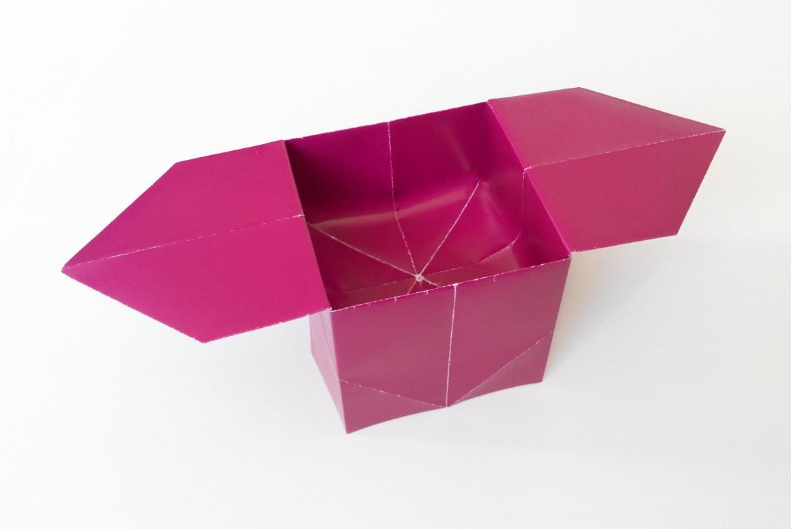 Коробочка на подставке оригами