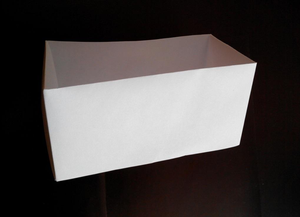 Коробочка прямоугольная оригами