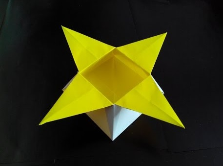 Коробочка звезда оригами