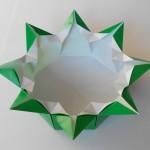 Красивая ваза оригами