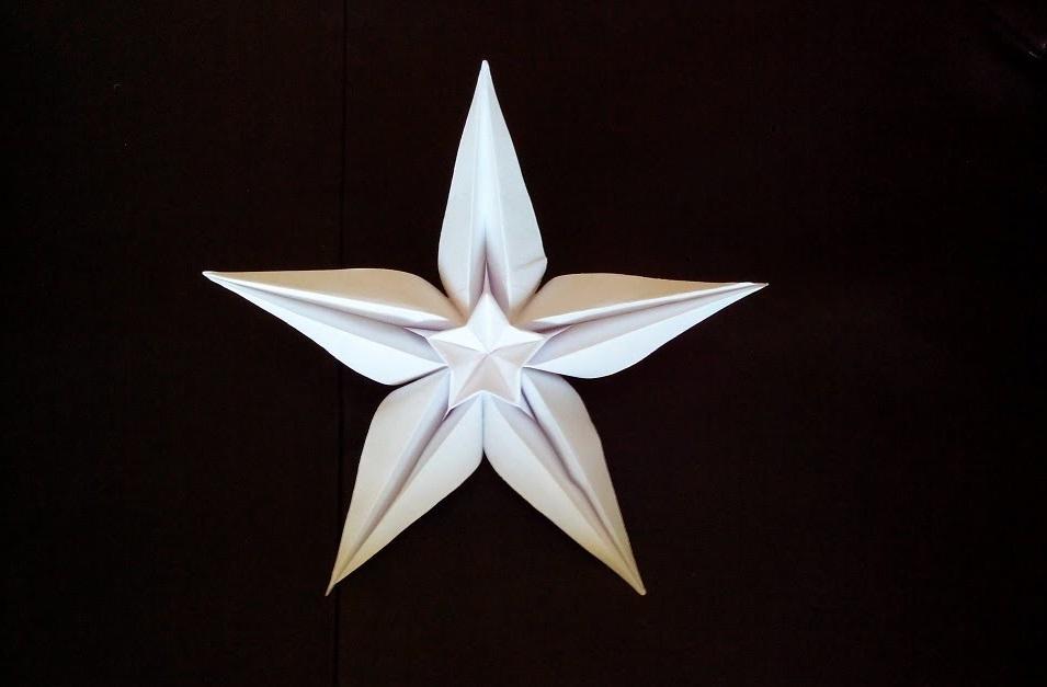 Красивая звезда оригами