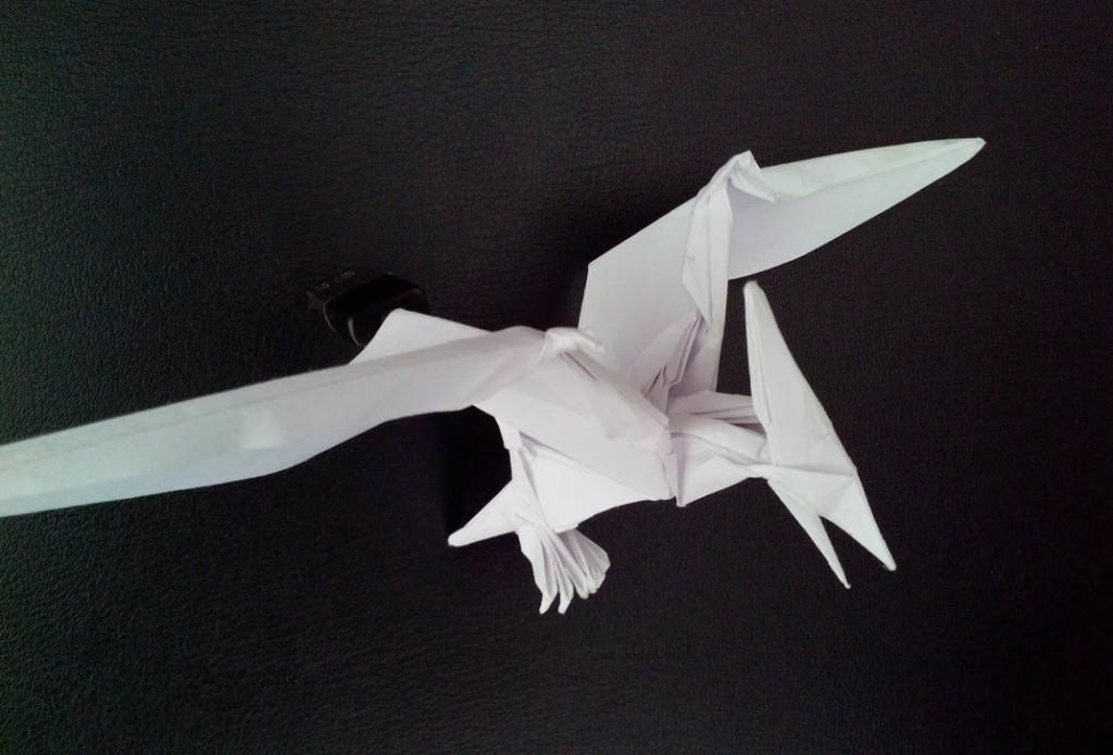 Красивый птерадактель оригами (Jason Ku)