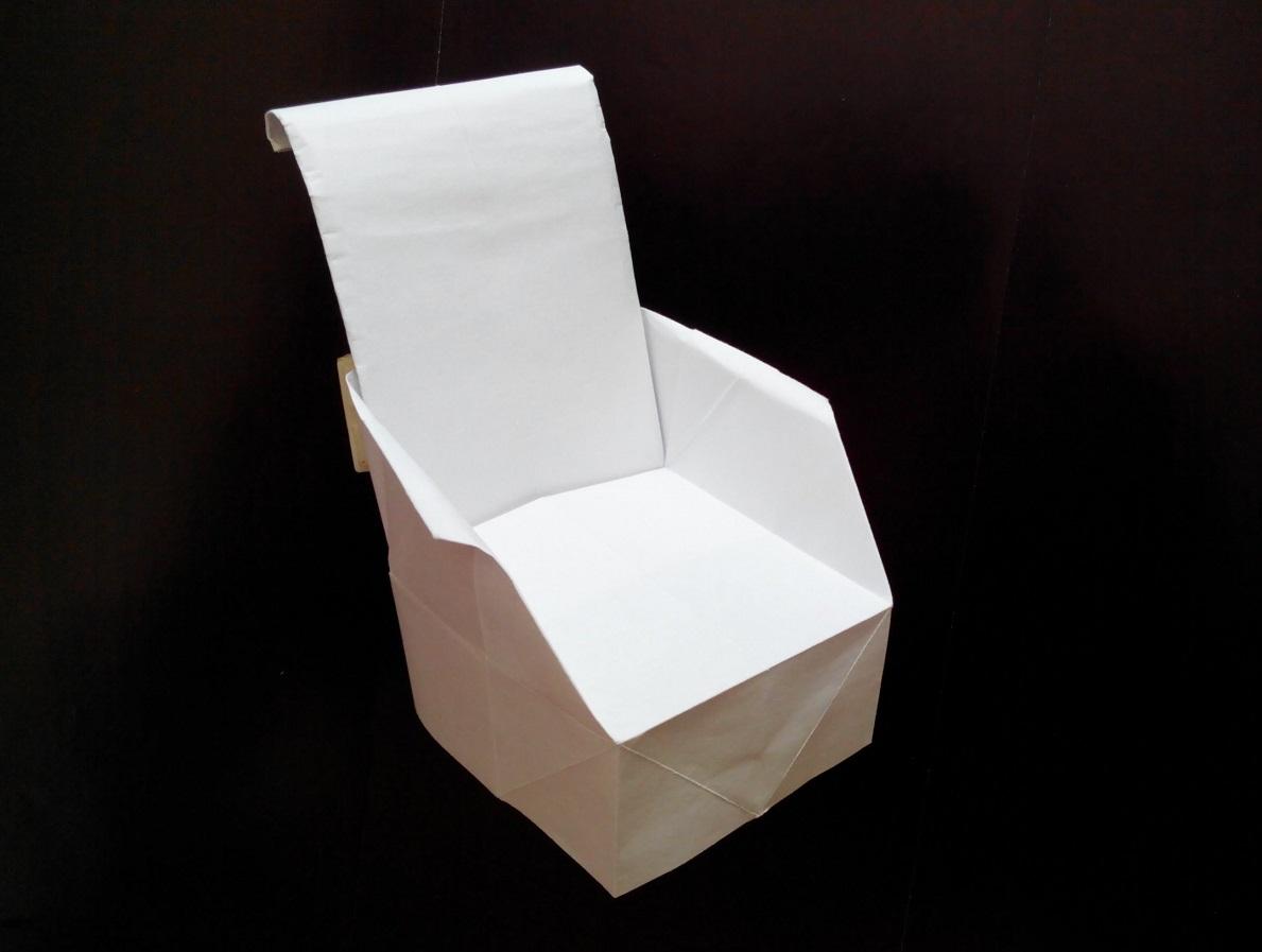 Кресло оригами (Kunihiko Kasahara)