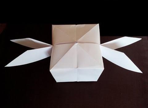 Куб с крыльями оригами
