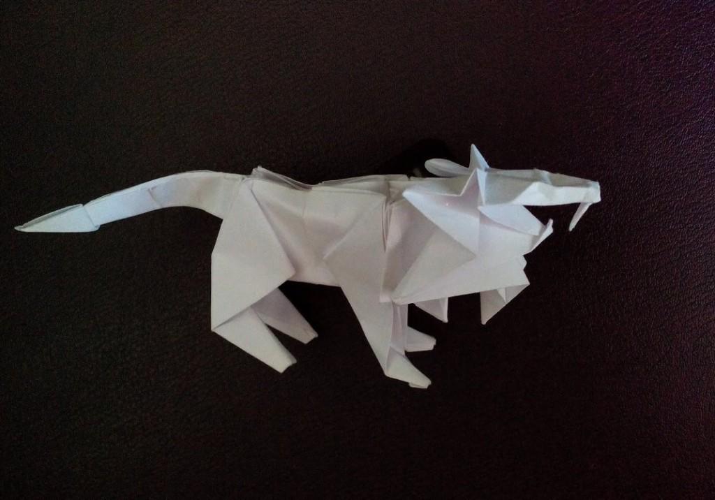 Лев оригами (Tetsuya Gotani)