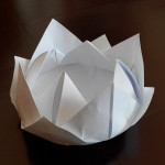 Лилия (кувшинка) оригами, 12 лепестков