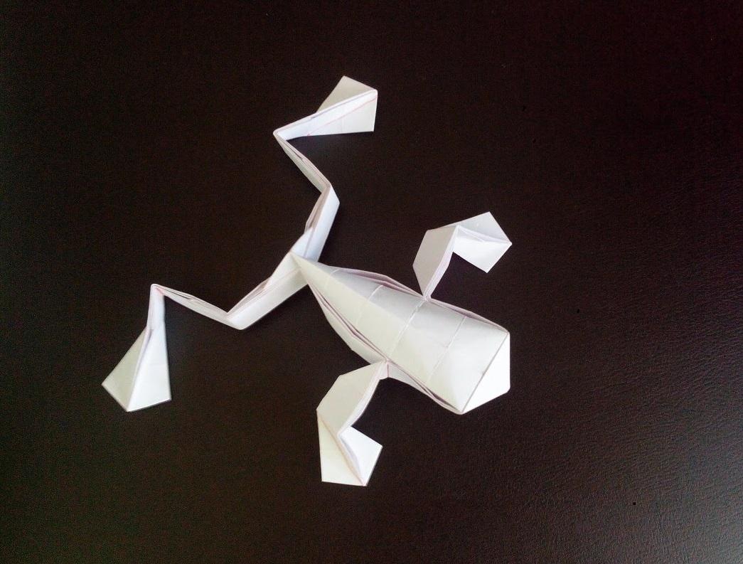 Лягушка оригами (Toshikazu Kawasaki)