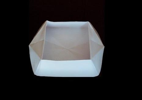 Низкая миска оригами