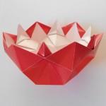Объемная ваза оригами