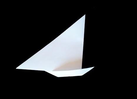 Парусник оригами