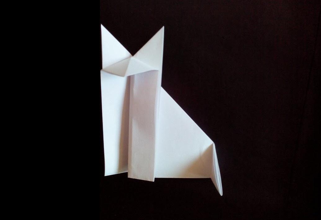 Простая лиса оригами