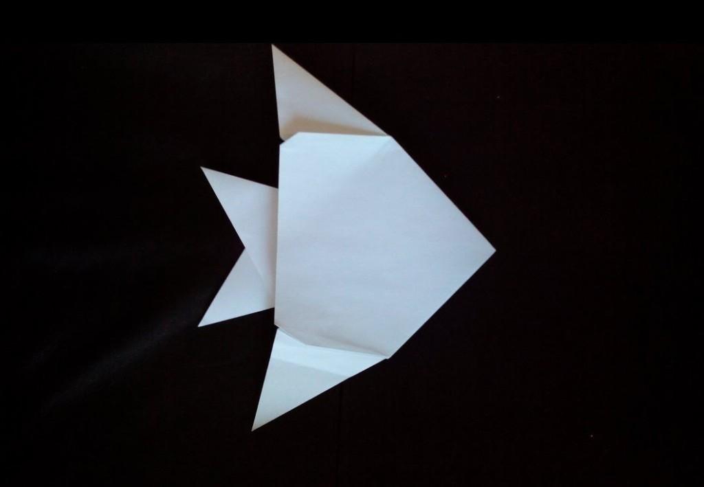 Простая рыба оригами