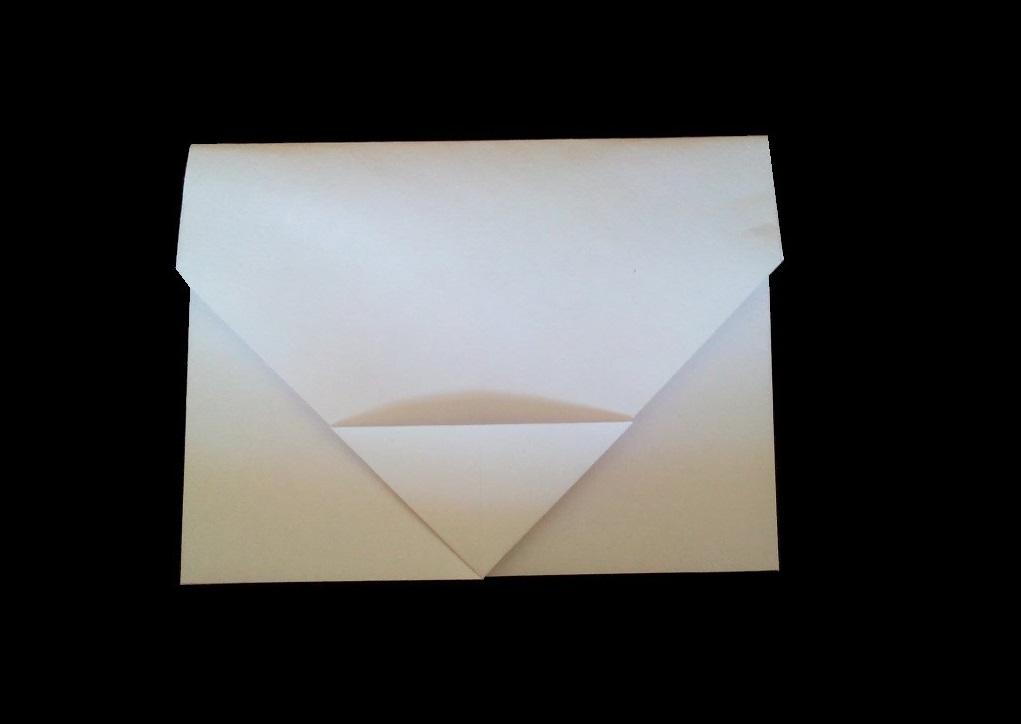 Простой конверт оригами с застежкой