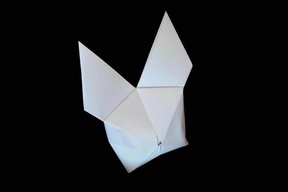 Простой заяц оригами