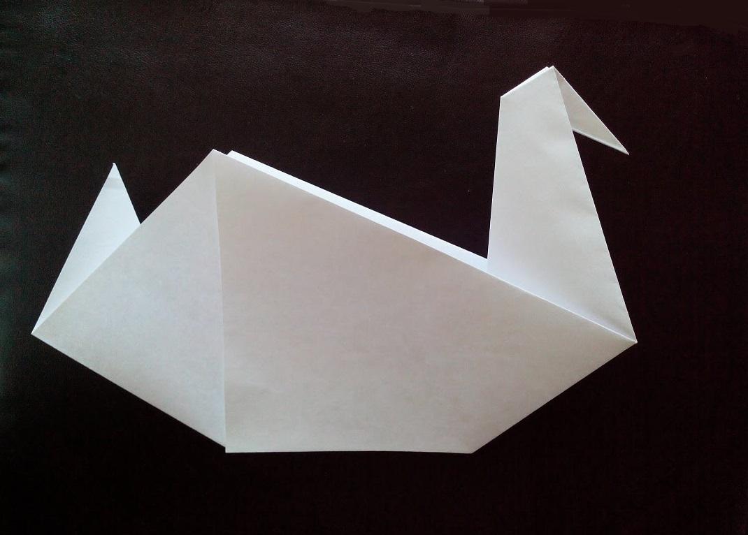 Как сделать из бумаги птичку