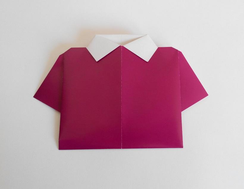Рубашка оригами, вариант № 1